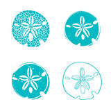 Sea Sand Dollar Design Set Royalty Free Stock Photos
