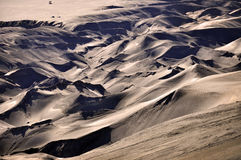 Sea of Sand. Sand dune in mount bromo, java, indonesia Royalty Free Stock Photos