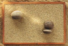 Sea sand frame Royalty Free Stock Image