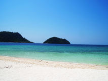 Sea , sand and island Royalty Free Stock Photography