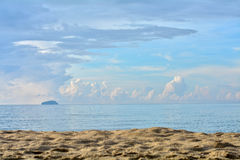 Sea Sand. Lets go to the sea, Rayong beach Thailand Stock Photos