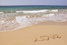 Sea, Sand and Love Royalty Free Stock Photos