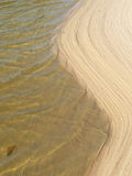 Sea and sand. When sea and sand meet Royalty Free Stock Images