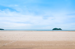 Sea and sand at nature landscape samila-songkhla Thailand. For background Stock Images