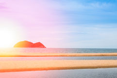 Sea and sand at nature landscape samila-songkhla Thailand. For background royalty free stock photo