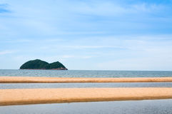 Sea and sand at nature landscape samila-songkhla Thailand. For background Royalty Free Stock Photos