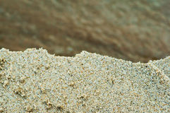 Sea sand, shore sand, colored sand. Sandy beach, beach sand, colored sand Stock Photo