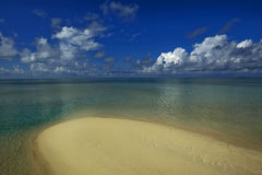 Sea, sand and sky. Beautiful tropical sea, sand and sky in Sabah, Malaysia Stock Image