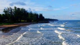 Sea sand sky Stock Photos