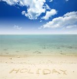 Sea sand sun beach Royalty Free Stock Image
