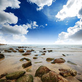 Sea sand sun beach blue sky thailand landscape nature viewpoint Stock Image