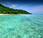Sea sand sun beach blue sky thailand landscape nature  Royalty Free Stock Image