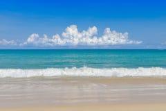 Sea and sand tropical sea under blue sky. royalty free stock photos