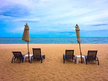 Sea and sand. Vocation day Royalty Free Stock Photo