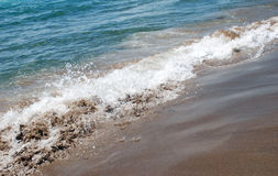 Sea, sand and waves. Sea, sand and sea waves Royalty Free Stock Photo