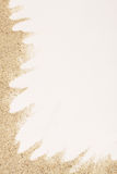 Sea sand on white background Royalty Free Stock Photos