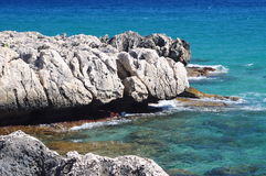 Sea of sardinia. With mediterranean rock Royalty Free Stock Photos