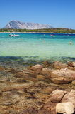 Sea of sardinia. With mediterranean rock Royalty Free Stock Photography