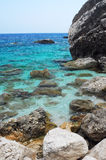 Sea of sardinia. With mediterranean rock Stock Photo