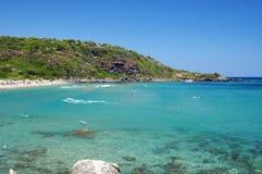 Sea of sardinia. With mediterranean vegetation Royalty Free Stock Images