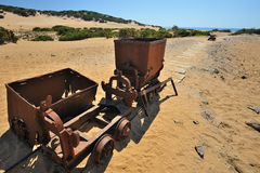 The sea of Sardinia, Italy - old mining Royalty Free Stock Photo