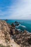 Sea scape in Cabo De Gata, Spain Stock Photos
