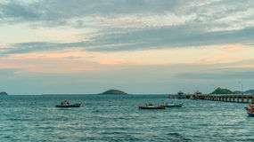 Sea scape at chonburi,Thailand Stock Photo