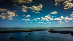 Sea scape ELJADIDA. E in  ,morocco Royalty Free Stock Image