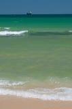 Sea-scape med brigantinen Royaltyfri Fotografi