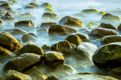 Sea scape with rocks Royalty Free Stock Images