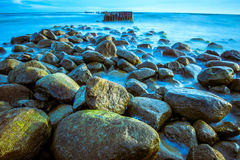Sea scape with rocks Stock Photos