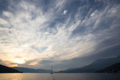 Sea scape at sunset Stock Photography