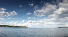 Sea scape in swanage Royalty Free Stock Images