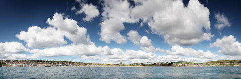 Sea scape in swanage Royalty Free Stock Photography