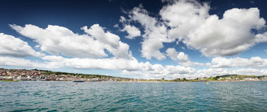 Sea scape in swanage Royalty Free Stock Photo