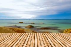 Sea Scape on Twilight Royalty Free Stock Photo