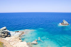 Sea scene on Crete island in Greece Royalty Free Stock Image