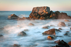 Sea scene on early morning Royalty Free Stock Images
