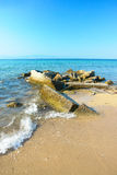 Sea scene in Thassos island Royalty Free Stock Photo