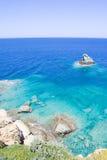 Sea scene with transparent water on Crete island in Greece Stock Photos