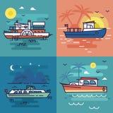 Sea Scenery Illustration Vector Stock Image