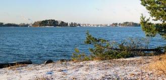 Sea scenery panorama royalty free stock photo
