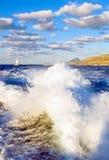 Sea scenes in the bay of Trapani, Sicily island Royalty Free Stock Photo
