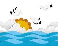 Sea and Seagull Stock Image