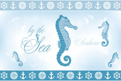 By the sea - seahorse. Seahorse by the sea illustration - available as jpg and eps-file stock illustration