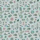 Sea seamless background Stock Photos