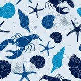 Sea seamless background Stock Image