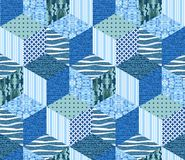 Sea seamless patchwork pattern. Stock Images
