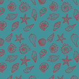 Sea seamless pattern Stock Image
