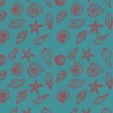 Sea seamless pattern Stock Image